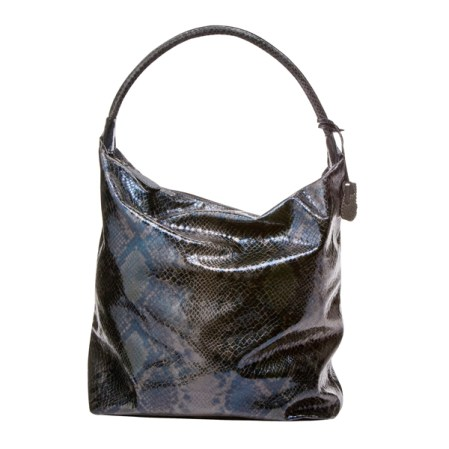 Large Faux-Snakeskin Satchel in Black, $49.99, Target.com only