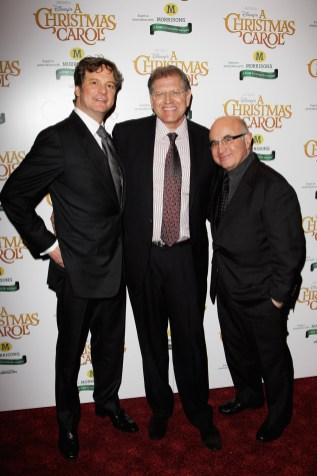 Colin Firth, Director/Producer/Screenwrite Robert Zemeckis, and Bob Hoskins