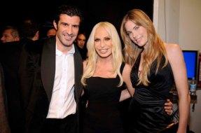 Luis Figo & Donatella Versace