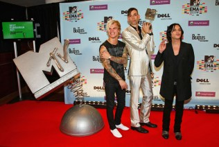Steve Forrest, Stefan Olsdal and Brian Molko of Placebo
