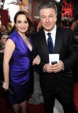 Tina Fey (in Salvatore Ferragamo) and Alec Baldwin