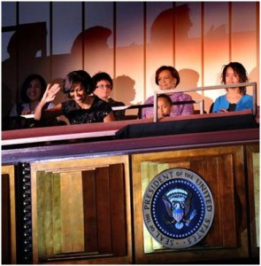 Michelle Obama in Moschino