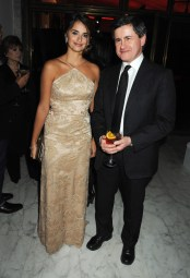 Penelope Cruz with the Mayor of Rome Gianni Alemanno