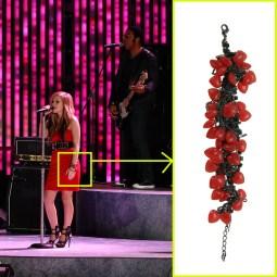 Avril Lavigne wearing Tom Binns for Disney Couture bracelet