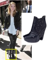 Dakota Fanning wearing Sam Edelman shoes
