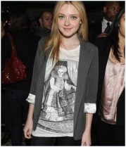 Dakota Fanning in AllSaints