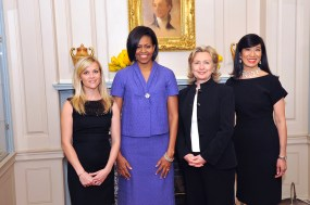 Reese Witherspoon (in Jason Wu), Michelle Obama, Hillary Clinton, Andrea Jung