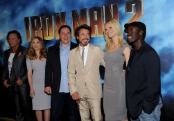 Mickey Rourke, Scarlett Johnansson, Jon Favreau, Robert Downey Jr., Gwyneth Paltrow, Don Cheadle