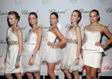 Models wearing Chopard jewelry