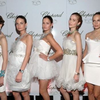 Models wearing Chopard jewelry
