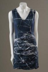 FIN, marble print dress, organic bamboo satin, fall 2010