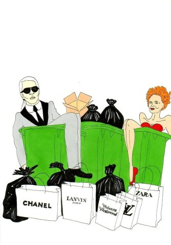 Karl Lagerfeld and Vivienne Westwood by aleXsandro Palombo
