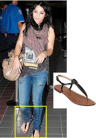 Vanessa Hudgens wearing Sam Edelman Gigi sandals