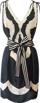 Meet me in Tangier Sunset Dress in Black, $343