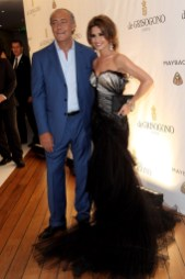 Cheryl Cole (in Roberto Cavalli) and Fawaz Gruosi