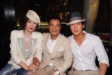 (From left) Mrs. QiQi Yam, Mr. Simon Yam, and Mr. Chun Wu
