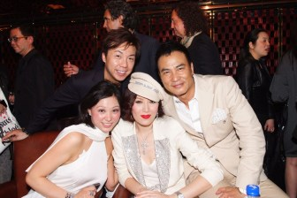 (From left) Ms. Michelle Cheng, Mr. Francis Cheng, Mrs. QiQi Yam, and Mr. Simon Yam
