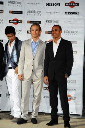 Lucas Di Grassi; Nico Rosberg; Lewis Hamilton