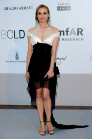 Diane Kruger wearing the Jaeger-LeCoultre 101 watch