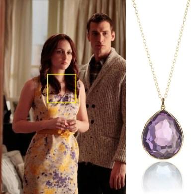 Leighton Meester wearing Ippolita pendant