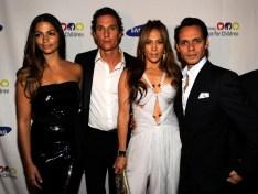 Camila Alves, Matthew McConaughey, Jennifer Lopez and Marc Anthony
