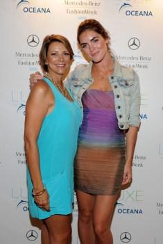 Designer Lisa Vogel and model Hilary Rhoda