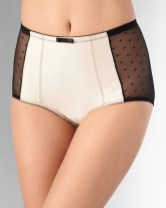 """Oh My Gorgeous"" Shaping Point d'Espirit Brief, available in black with light nude: $20"