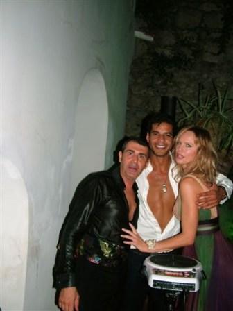Capri - Lo stilista Michele Miglionico il modello- attore Franklin Santana e la top model-attrice Camilla Sjoberg