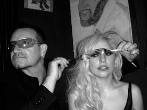 Bono and Lady Gaga