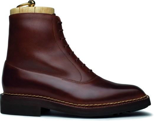 Geneva low boot - gold Barenia calfskin with a shady finishLD