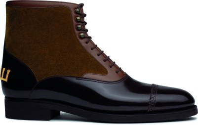 Moscow ankle boot - 166 box-calf, wagtail box and tobacco brown suedeLD