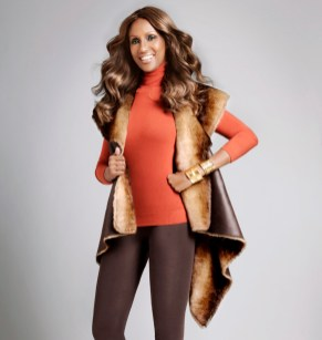 Reversible Fur Vest - Brown