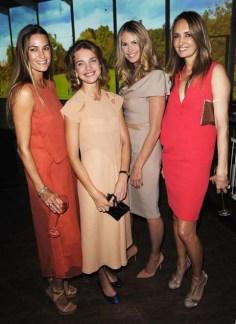 Yasmin le Bon, Natalia Vodianova, Elle Macpherson and Gail Elliott