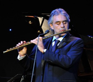 Andrea Bocelli performs onstage