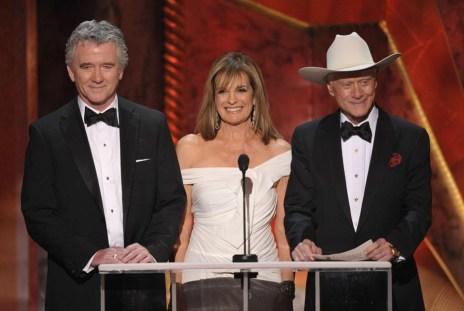 Patrick Duffy, Linda Gray and Larry Hagman