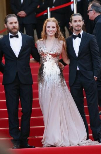 Jessica Chastain; Tom Hardy; Shia LaBeouf