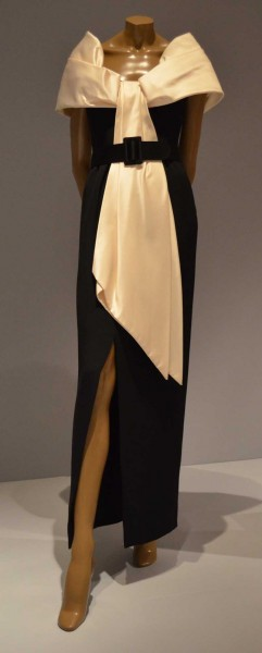 Bill Blass Silk Crepe, Sil Satin, Black and Creme