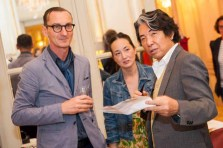 Bruno Frisoni, Harumi Klossowska de Rola and Kenzo Takada