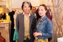 Kenzo Takada and Harumi Klossowska de Rola