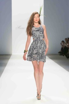 Cutout Day Dress in Patchwork print