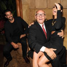 """""""Cara Santana, Max Azria, and Jesse Metcalfe at the BCBGMAXAZRIA Runway and Herve Leger by Max Azria Spring 2014 exclusive after party"""""""