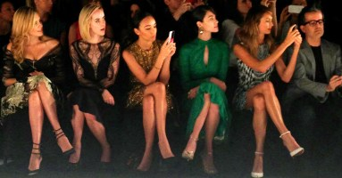"""""""Maggie Grace, Jena Malone, Ashley Madekwe, Emmy Rossum and Stacy Keibler at the Monique Lhuillier Spring 2014 Collection"""""""