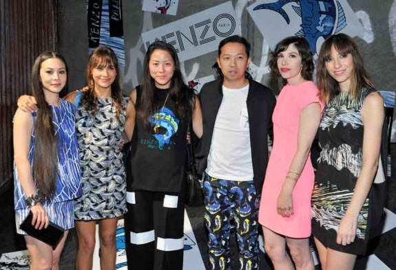 China Chow, Rashida Jones, Carol Lim, Humberto Leon, Carrie Brownstein, Gia Coppola