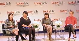"""Alisa Gould–Simon, Gabi Gregg, Erica Domesek, and Verena von Pfetten at Lucky FABB 2013"""