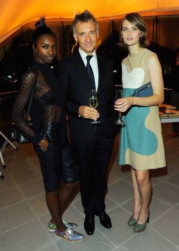 Leomie Anderson, Geoffroy de la Bourdonnaye and Lara Mullen