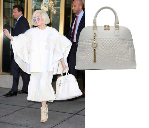 lady gaga versace bag2