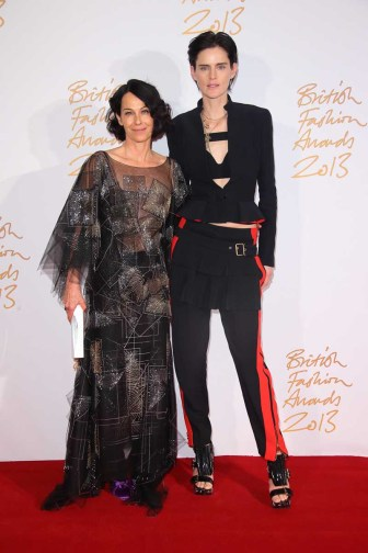 Lady Amanda Harlech (winner, Isabella Blow Award for Fashion Creator) & Stella Tennant