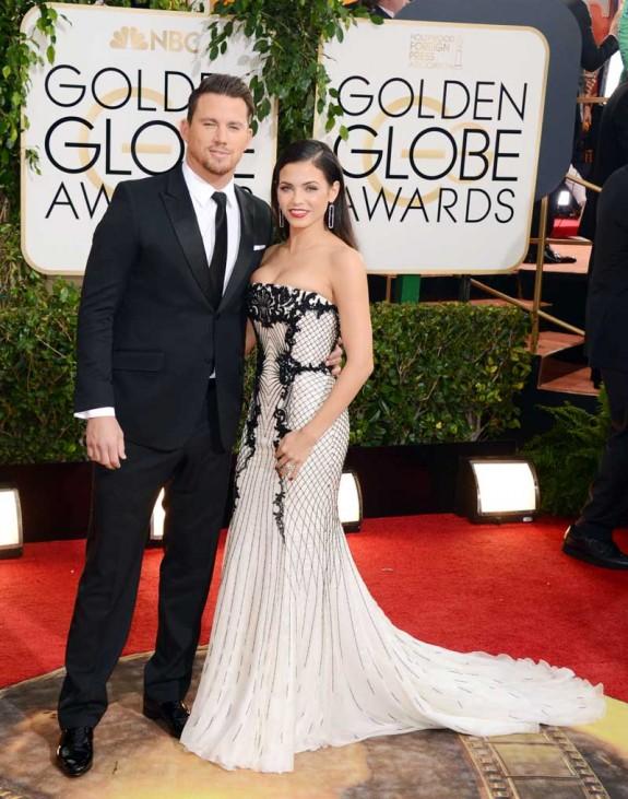 Channing Tatum, Jenna Dewan Golden Globe 2014