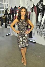 "Rocsi Diaz wears: BCBGMAXAZRIA ""Diane Sleeveless Shift Dress"" (AJK63A34)"