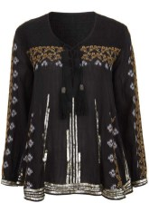 Embroidered Smock Blouse